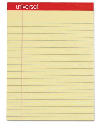 "YELLOW PADS, 8""X11-3/4"" LEGAL RULED (12/PK)"