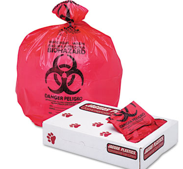 24X32 1.3 MIL RED WASTE LINERS-INFECTIOUS 250/CS