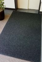 4FT X 6FT CHEVRON MAT, CHARCOAL-BEVEL ALL SIDES