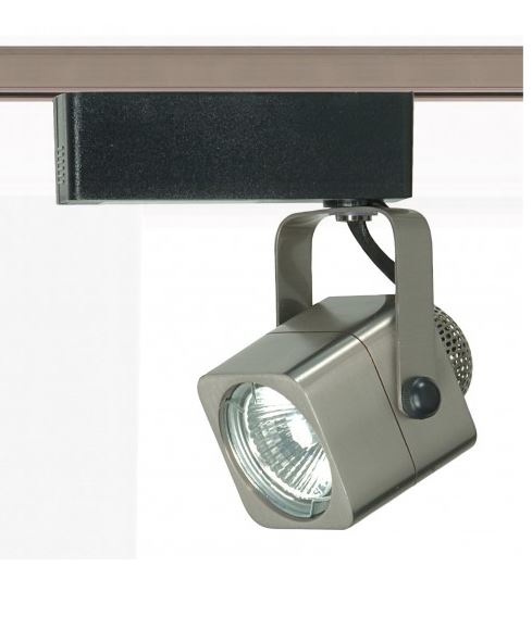 1-LAMP MR-16 12V SQUARE TRACK HEAD FIXTURE, BRUSHED NICKEL