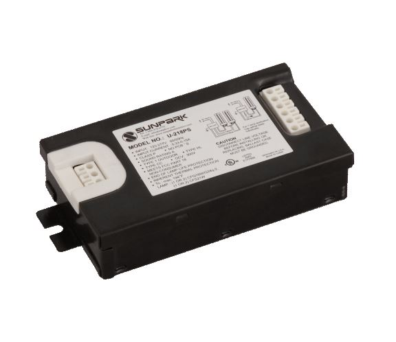 1 OR 2-LAMP 18W CFL BALLAST, 120/277V (SUNPARK) - PLUG IN