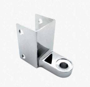 BOTTOM DOOR HINGE BRACKET, CHROME PLATED (ACCURATE)