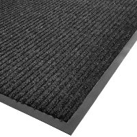 4FT X 3FT NEEDLERIB MAT, CHARCOAL-BEVEL ALL SIDES