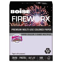 COLORED PAPER, LAVENDER 20LB. 8-1/2X11 - 500 SHEETS PER REAM
