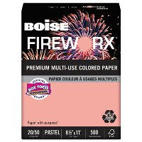 COLORED PAPER, SALMON 20LB. 8-1/2X11 - 500 SHEETS PER REAM