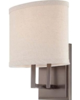 1-LAMP VANITY LIGHT FIXTURE W/BRUSHED NICKEL FINISH AND