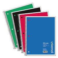 "NOTEBOOK, 8-1/2"" X 11 1-SUBJECT WIREBOUND 100-SHEET"