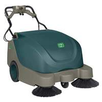"NOBLES BATTERY OPERATED WALK BEHIND SWEEPER, 35"" CLEANING"
