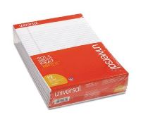 PERFORATED EDGE WRITING PAD, LEGAL RULED, LETTER - WHITE