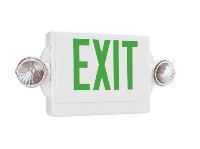2-LIGHT LED EMERGENCY EXIT SIGN/FIXTURE UNIT COMBO
