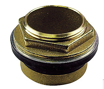 AMERICAN STANDARD BRASS AND RUBBER INLET SPUD, BRASS, FOR