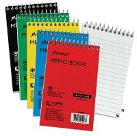 "SMALL WHITE MEMO PADS, 3""X5"" LINED, 50 SHEETS - TOP BOUND"