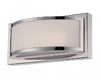 1-LIGHT WALL MOUNT LED WALL SCONCE, POLISHED NICKEL FINISH