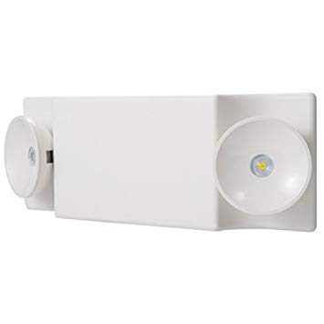 6V EMERGENCY LIGHT WITH 5.4W INCANDESCENT LAMPS, WHITE