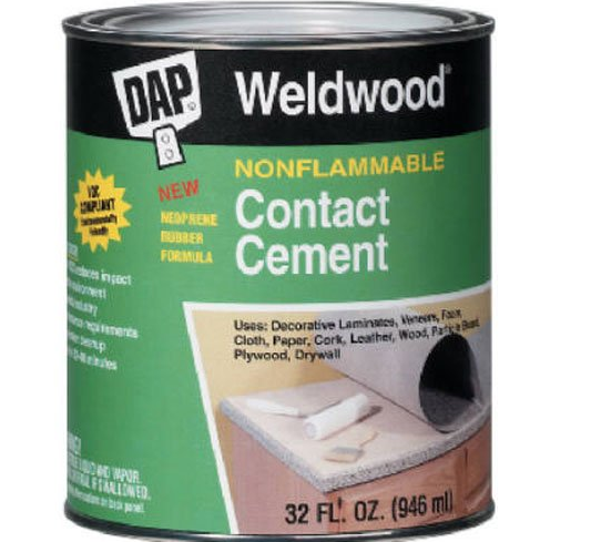 NONFLAMMABLE CONTACT CEMENT - 1 QT.