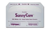 1/2 FOLD SEAT COVERS, WHITE 5000/CS (SUNNYCARE)